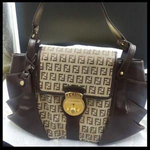 Authentic Fendi Tuc Zucchini brown purse